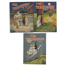 The Ticklemouse 3 Volumes by Roy Rutherford Bailey American Colortype Co Circa 1920s 1930s