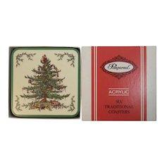 Pimpernel Spode Christmas Tree Coaster Set in Original Box 6