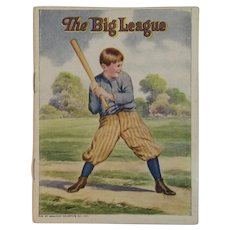 1920s Baseball Book The Big League American Colortype Co