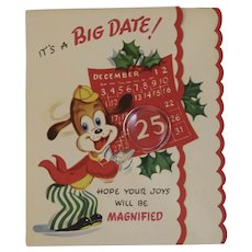 Unused Dog Christmas Card by Gay Greetings