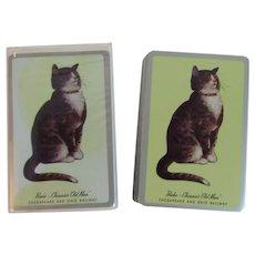 Peake Chessie's Old Man Playing Cards C&O Chesapeake and Ohio C & O Railroad In Original Box Kitty Cat