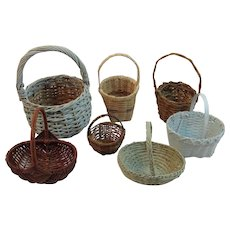 Miniature Basket Collection Hand Woven Made Handmade Handwoven Easter Displays
