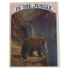 1920s In the Jungle Book American Colortype Co Bear Lion Moose Buffalo