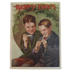 1920s Happy Days Book American Colortype Co Childrens Illustrated