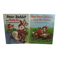 1950s Peter Rabbit and Reddy Fox How Peter Cottontail Got His Name Wonder Books by Thornton Burgess