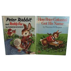 1950s Peter Rabbit and Reddy Fox How Peter Cotton Tail Got His Name Wonder Books by Thornton Burgess