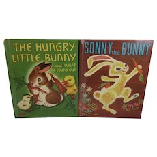 1950s The Hungry Little Bunny Sonny The Bunny Wonder Books by Irma Wilde and Marcia Martin Illustrated