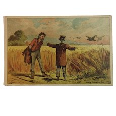 Dambmann Bros Victorian Trade Card Baltimore Maryland Fertilizer Arlington Guanos Advertising Humorous Scarecrow