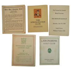 5 Unused Golf Score Cards from Philadelphia Area Courses and Country Clubs Vintage Including Philmont South Course