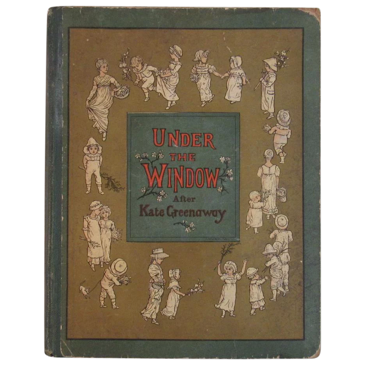 1880s McLoughlin Bros Under the Windows After Kate Greenaway Color ...