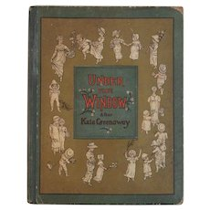1880s McLoughlin Bros Under the Windows After Kate Greenaway Color Illustrated Victorian Children's Book