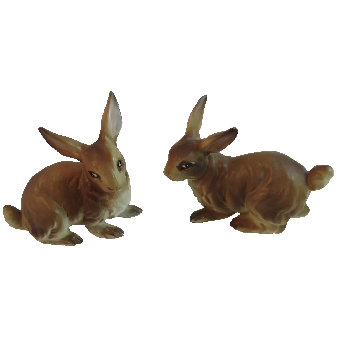 2 Ucagco Brown Bunny Rabbits Bunnies Japan Ceramics Vintage Easter Ss Moore Antiques Ruby Lane