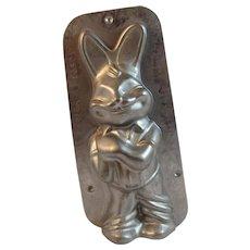 Dehaeck Belgian Chocolate Easter Bunny Rabbit Tin Mould Candy Mold Vintage Belgium