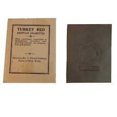 Ohio State Leather Art Tobacco Premium College University Premium in Original Envelope from Turkey Red Egyptian Cigarettes Art