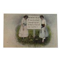 1917 Humorous Postcard Edwardian Era Comic Series 534