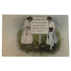 1917 Humorous Postcard Edwardian Era Comic Series 534