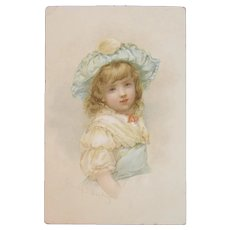 Dambmann Bros Emily J Harding Artist Signed Victorian Trade Card for Brothers Baltimore Fertilizers