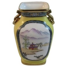 Nippon Morimura Hand Painted Vase with Two Handles