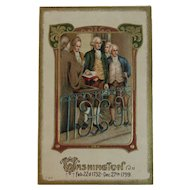 George Washington Taking the Oath of Office Embossed Patriotic Postcard for President's Day