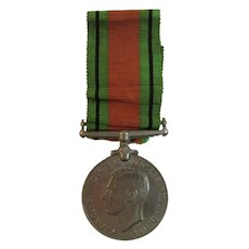 WWII British Defence Medal with Ribbon George VI 1939 - 1945 Great Britain World War 2 II