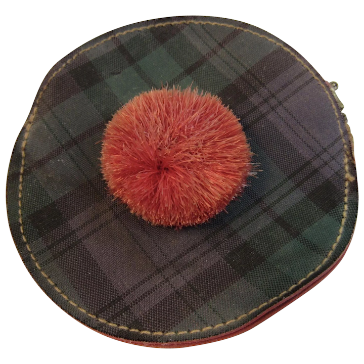 1bbf17c0 WWII Era Tam O Shanter Coin Purse Scottish Scotland World War II : SS Moore  Antiques | Ruby Lane