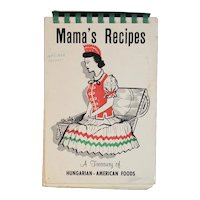 Mama's Recipes A Treasury of Hungarian-American Foods Cookbook Hungarian American St. Elias Byzantine Catholic Church Munhall PA