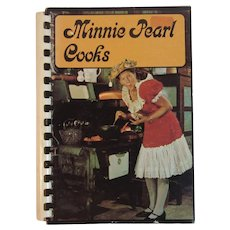 1970 Minnie Pearl Cooks Vintage Cookbook Book Country Music