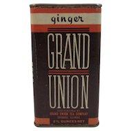 Grand Union Tea Company Ginger Spice Tin Chicago Illinois