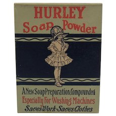 Hurley Soap Powder Box Full Unused and Still Sealed Hurley Machine Co of Chicago 1920s 1930s Washer Washing