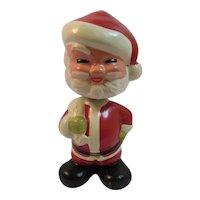 Paper Mache Santa Nodder Bobblehead Vintage Christmas Bobble Head