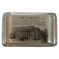 York Pennsylvania New Post Office Glass Paperweight Souvenir Paper Weight