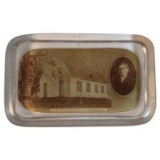 1909 Donegal Presbyterian Church York PA Glass Paperweight Paper Weight