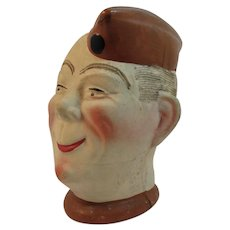 WWII Elmer the Soldier Head Planter Vintage 1940s Patriotic Homefront Works War 2 II Army