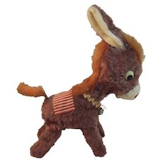 Vintage Wind Up Donkey Toy Japan Moves Up and Down on Back Legs and Tail Spins