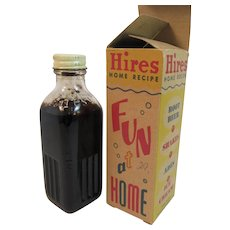 Hires Home Recipe Extract Bottle to Make Root Beer Full in Original Box with Directions Vintage