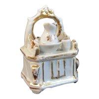 Victorian Fairing Pitcher and Bowl on Dresser Trinket Box