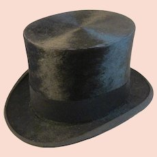 Victorian Mens Beaver Top Hat by Maurice L Rothschild & Co
