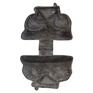 E & Co Bicycle Pewter Ice Cream Mold Victorian Food Candy Mold
