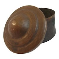 Arts and Crafts Hand Hammered Dovetailed Copper Covered Dish