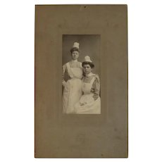 Victorian Nurses Photograph Photo Cabinet Card Nurse Uniforms Lipp Studio New York