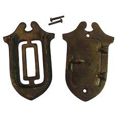 Brass Peephole Door Grille Speakeasy Style Peep Hole Vintage Architectural Salvage