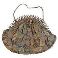 Jolles Original Art Deco Beaded Purse with Ornate Frame and Clasp Vintage Evening Handbag