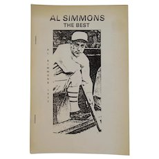 1979 Al Simmons The Best A Fan Looks at The Milwaukee Pole by Ed Dutch Doyle Baseball Book Philadelphia A's Athletics Player