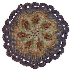 Victorian Beaded Mat with Crocheted Edge Bead Crochet Beadwork