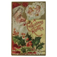 1908 Embossed Santa Postcard A Christmas Reverie