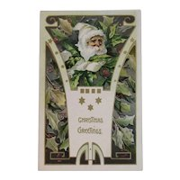 Tuck Santa Claus Embossed Christmas Postcard German Germany Art Nouveau