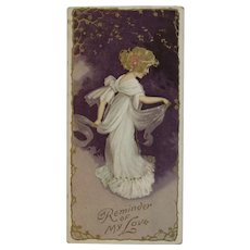 Victorian Fairy Embossed Bookmark Book Mark Sweetheart Valentine