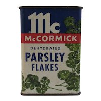 McCormick Parsley Flakes Vintage Spice Tin with Graphics