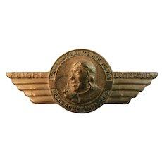 Post Cereal Captain Frank's Air Hawks Flight Commander Pin Bran Flakes Cereal Advertising Premium