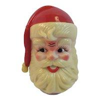 1970s Rotating Santa Music Box Hard Plastic Plays Jingle Bells